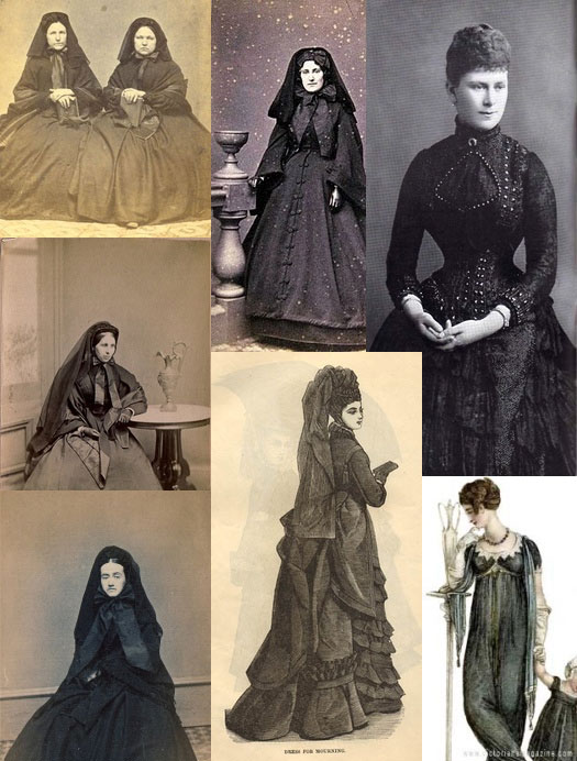 modern mourning clothes